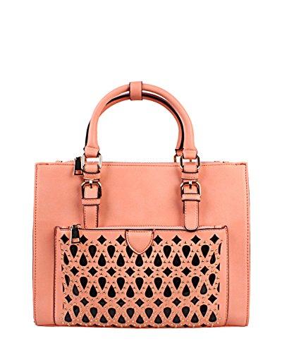 JEZZELLE - Bolso de asas para mujer rosa rosa talla única