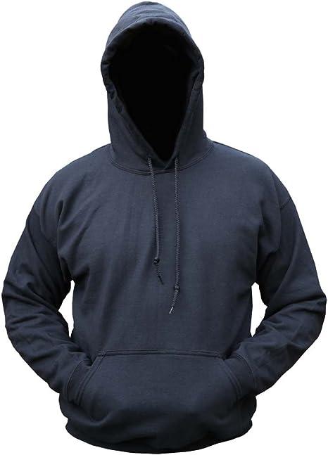 Mens Army Combat Military Hooded Hoodie Sweat Shirt Fleece Track Skate Top Black