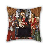 Loveloveu Throw Cushion Covers 20 X 20 Inches / 50 By 50 Cm(2 Sides) Nice Choice For Couples,car,pub,dining Room,dinning Room,wife Oil Painting Lucchese School Late 15th Century - Virgin And Child W