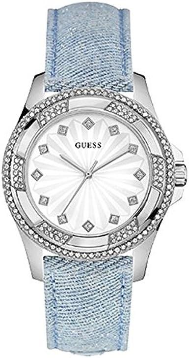Guess Reloj Análogo clásico para Mujer de Cuarzo con Correa en Acero Inoxidable W0703L3