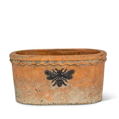 Abbott Collection (Abbott Collection 27-BUMBLE/852 Planter with Bee, Terracotta)