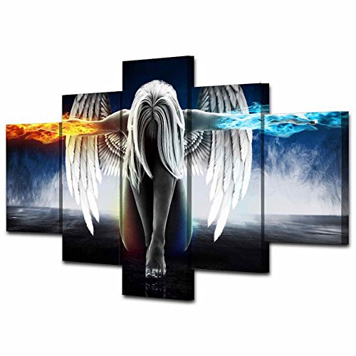 5D Diamond Painting-NACOLA 5 Pieces Set Crystals Painting Kits Arts for Home Decoration Cross Stitch Painting-Angel With Wings (5 Piece Paint Stick)