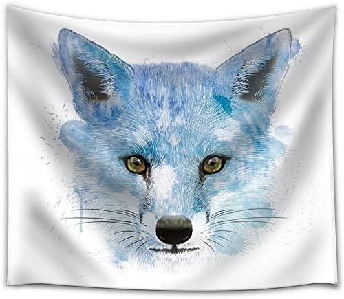 Fun and Colorful Splattered Watercolor Fox