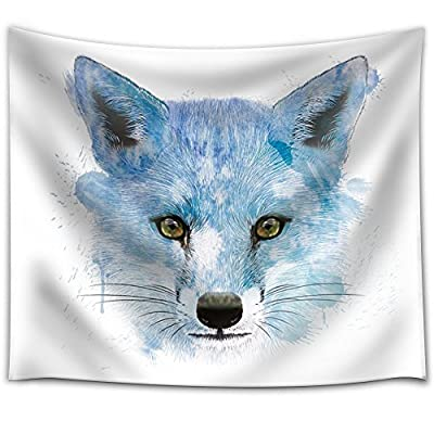 Classic Design, Pretty Object of Art, Fun and Colorful Splattered Watercolor Fox