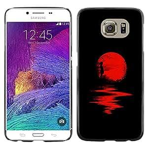 Exotic-Star ( Moon Halloween Dark Reflection ) Fundas Cover Cubre Hard Case Cover para Samsung Galaxy S6 / SM-G920 / SM-G920A / SM-G920T / SM-G920F / SM-G920I