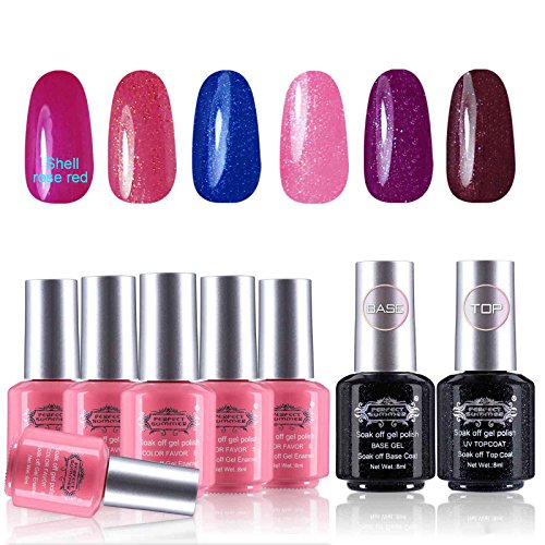 Perfect Summer UV/LED Soak Off Gel Nail Polish - 6 Colors Se