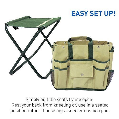 7 piece garden seat tool set kit includes 5 tools pruner for Pretty garden tools set
