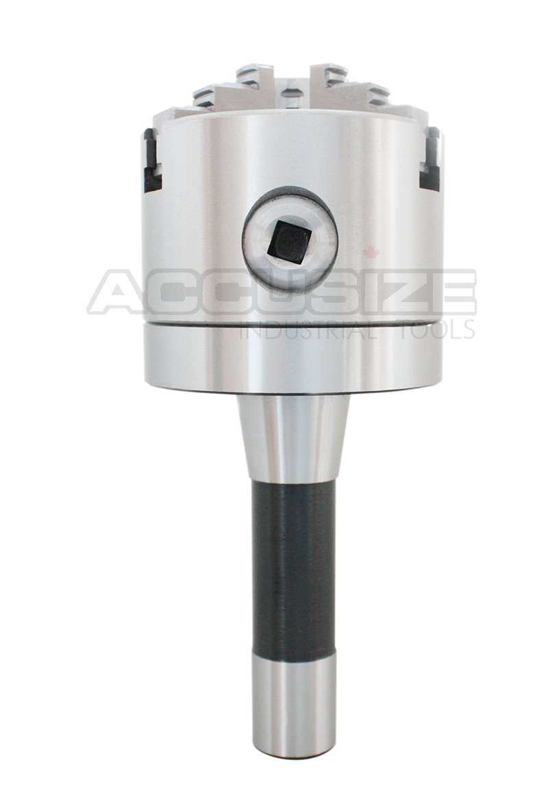 Accusize Tools - 3'' ( 75 mm) R8 Precision Lathe Chuck 3-Jaw Self centering Scroll, #0225-0236 by Accusize Industrial Tools