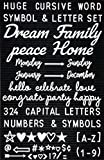 Letter Board Letters Set – 324 Capitals, Numbers, Special Characters + 33 1.5-2 Inch Cursive Words (Day, Months, Celebrations) - For Felt Changeable Message Signs & Letterboard – In White Plastic