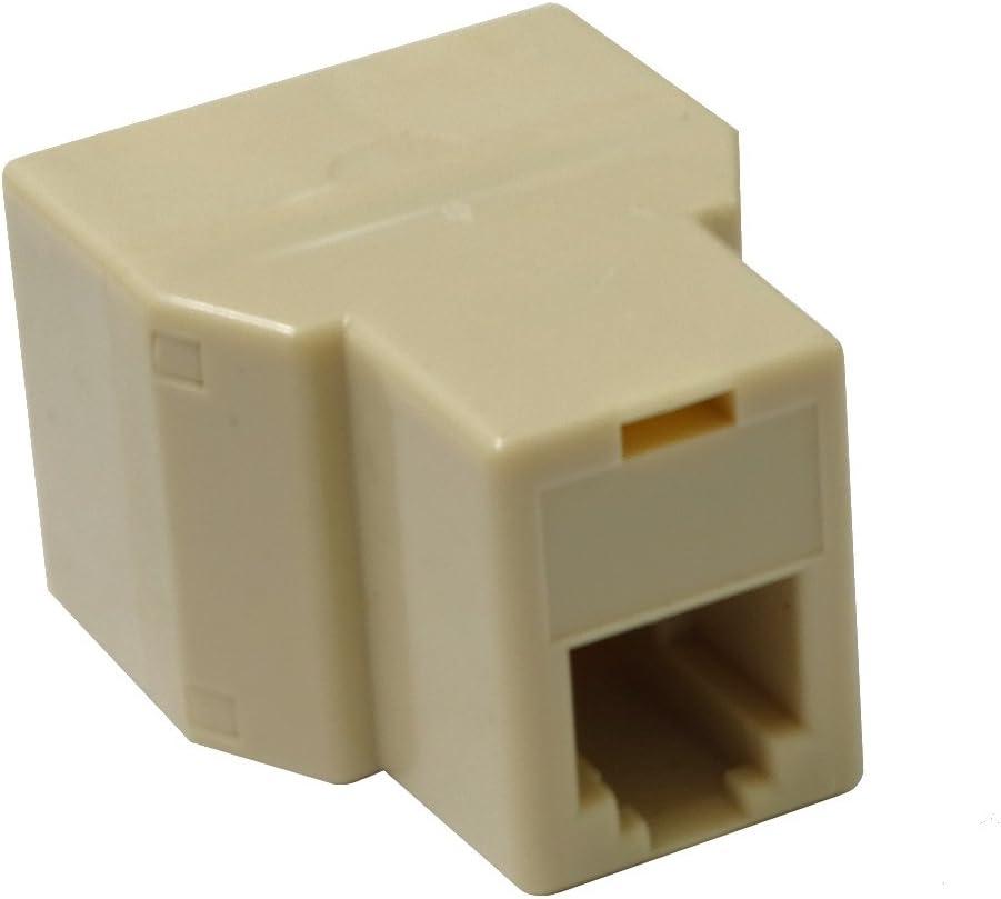 Adaptador doble RJ11 6p4c para cables de tel/éfono o ADSL modem 1 hembra-2 hembra C4427 AERZETIX