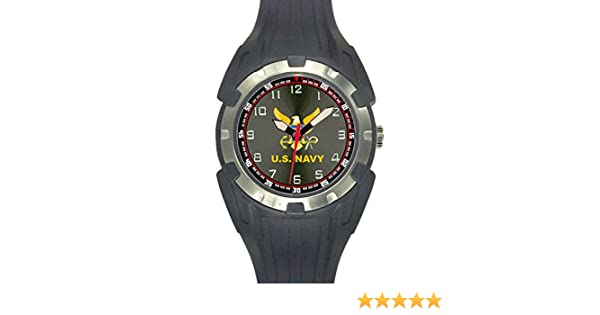 Amazon.com: Aqua Force US Navy Analog Quartz Watch, Black: Sports & Outdoors