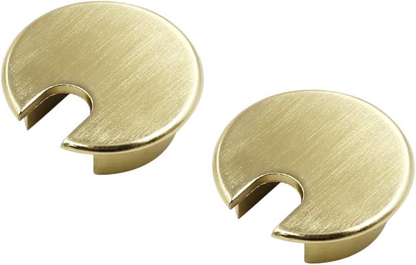 TUOREN 35mm Bronze Metal Desk Cord Cable Hole Cover Desk Table Grommet-2pcs
