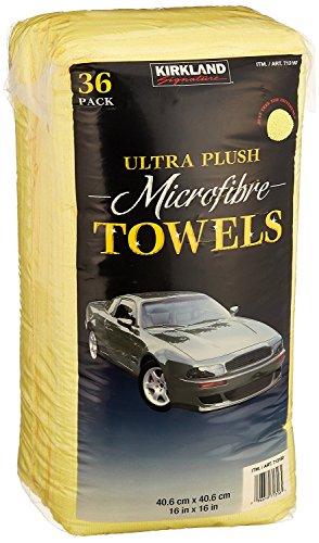 Kirkland Signature sSzDua Ultra High Pile Premium Microfiber Towels, 36 Pack, 4 Units by Kirkland Signature (Image #1)
