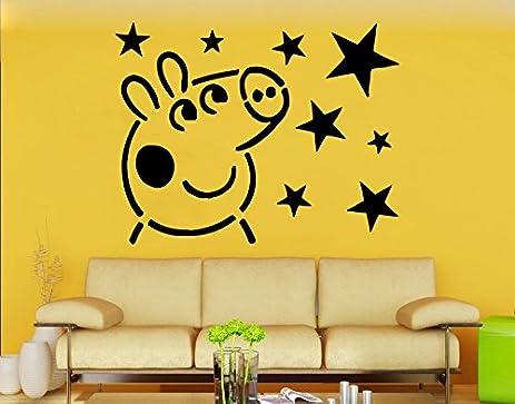 Amazon Com Peppa Pig Wall Decal Peppa Pig Vinyl Sticker Cartoon