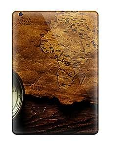 Ipad Air A Compass And A Map Print High Quality Tpu Gel Frame Case Cover