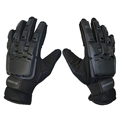 MAddog Tactical Full-Finger Paintball and Airsoft Gloves - Black - X-Large