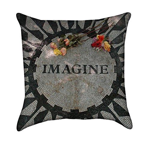 Beatles Imagine Mosaic Throw Pillow (Imagine Mosaic)