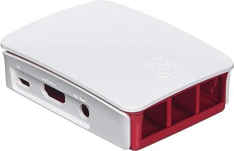 Raspberry 9098132 - Caja de ordenador, color rojo y blanco: Amazon ...
