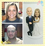 Model 68 Fully Customized Bobble-head Polymer Clay Figurines/sculpture From Head to Toe Based on Customers' Photos Using As Wedding Cake Topper, Gifts, Souvenirs, Decorations