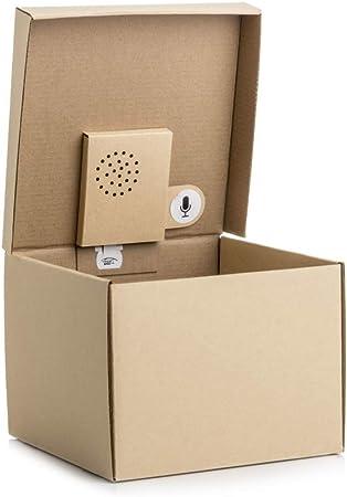 SUCK UK Caja de Regalo Musical-Graba tu Propio Mensaje, Papel, Marrón, 19.5 x 14.3 x 19.1 cm: Amazon.es: Hogar
