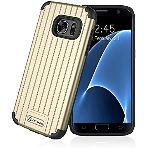 Galaxy S7 Case:Lovphone Slim Fit Dual Layer Protective Case,[Shock Absorption] [Impact Resistant]Texture Hybrid Sales