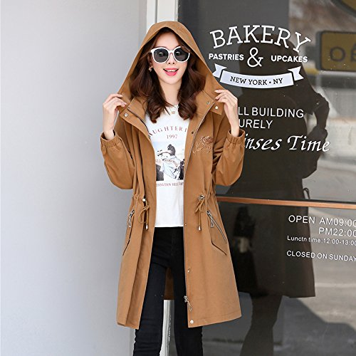 Fall With Women'S Jackets amp; Coats Caramel Cap Windbreaker Long Female Jacket SCOATWWH nbsp;Female qwRIU8Att