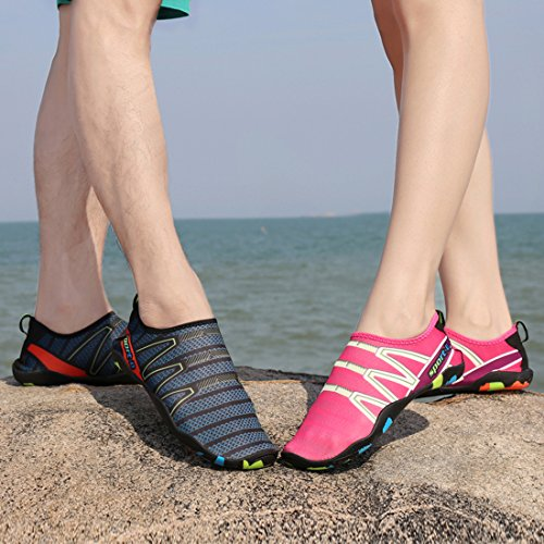 Pour Aquatique D'Eau Nager Plage Vert Unisexe Surf de Dame Chaussettes Yoga Chaussures Hommes Chaussures Sport Leaproo nfqU70Ewn