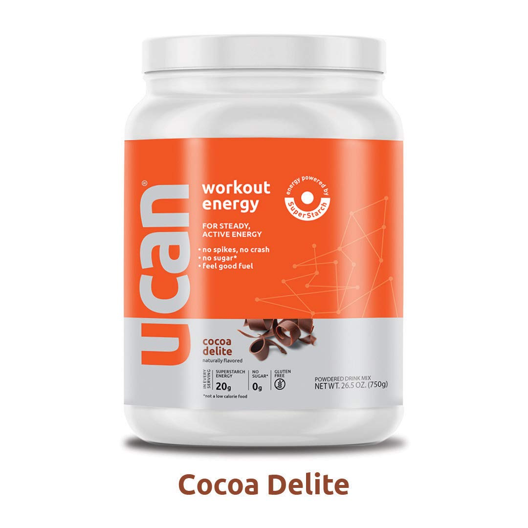 UCAN Workout Energy Powder (26.5oz, 30 Servings) - No Added Sugar, Gluten Free, Vegan, Pre- and Post-Workout Drink, Keto Friendly (Cocoa Delite)