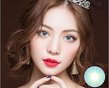 lentes de contacto de color azul, gafas de maquillaje cosmético para ojos lentes de contacto de color natural de 1 año de uso sin graduación HD BLUE (2 lentillas por caja): Amazon.es:
