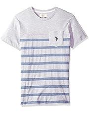 U.S. Polo Assn. Men's Short Sleeve Crew Neck Striped T-Shirt