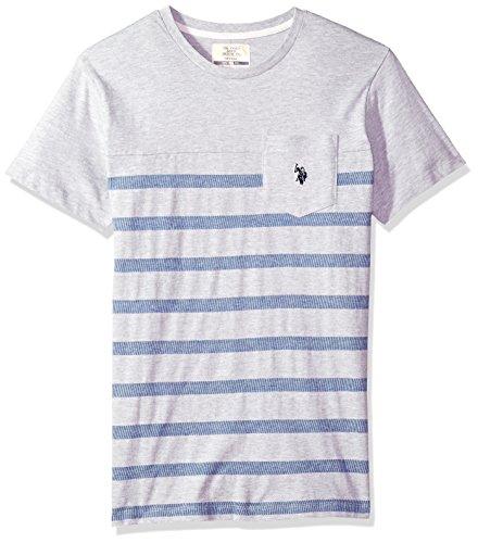 U.S. Polo Assn. Mens Short Sleeve Crew Neck Striped T-Shirt