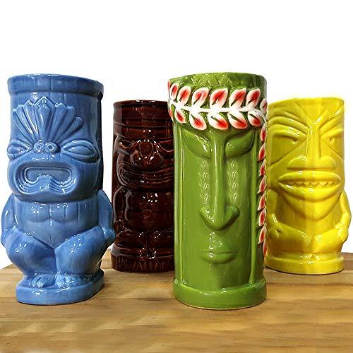 - BarConic Tiki Mugs Drinkware Package 5 - Set of 4