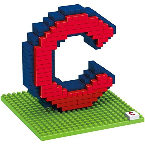 Forever Collectibles MLB Chicago Cubs BRXLZ 3D Team Logo Building Blocks, Size 7.5, Multicolor ()
