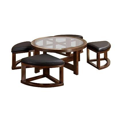 Crystal Cove Ii Coffee Table W 4 Ottomans