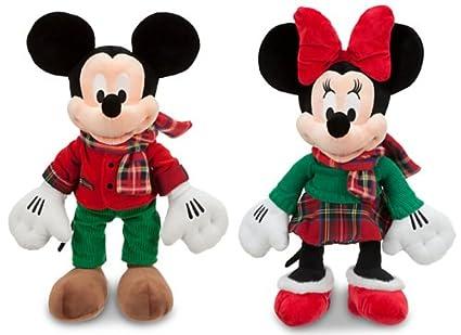 Amazon Com Disney Large 17 Plush Tartan Christmas 2012 Mickey And
