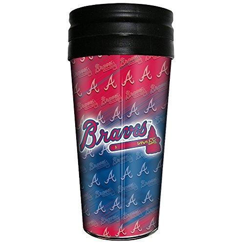MLB Atlanta Braves 3D Thermal Metallic Thermal Mug, 16-ounce