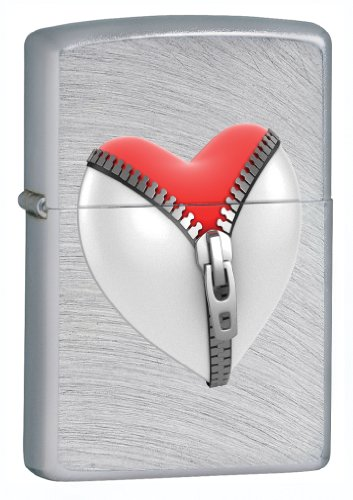 Zippo Chrome Arch Zip Heart Lighter ()