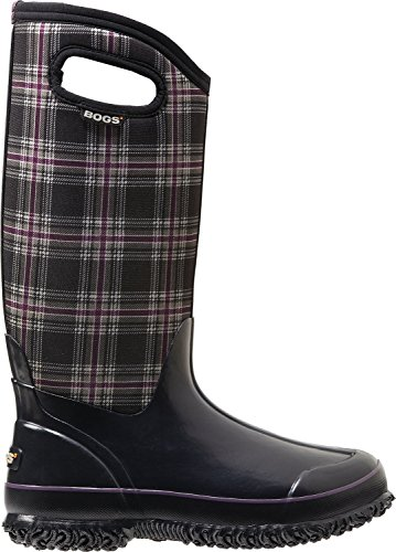 Bogs Women's Classic Tall Winter Plaid Waterproof Insulated Boot, Black Multi,6 M US (Winter Bogs Boots Women)