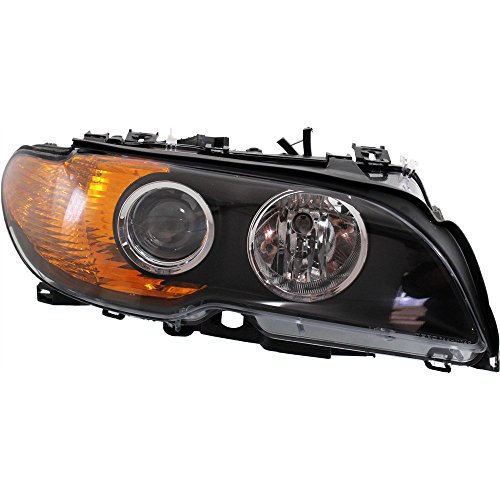 Headlight for 3-Series 03-06 RH Assembly Halogen W/Yellow Turn Indicator w/Bulb(s) Right Side
