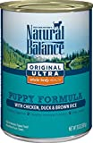 Natural Balance Puppy Formula Canned Wet Dog Food,...