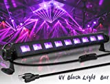 ECHTPower Black Light 27W 9LED UV Light Bar Glow in The Dark Party Supplies for Blacklight Party Birthday Wedding Stage Lighting Christmas, Disco DJ Poster Tapestry and UV Body Paint