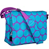 Messenger Bag, Wildkin 13 x 10 Inch Messenger Bag, Includes Interior and Exterior Pockets and Velcro Closure, Ages 8+, Perfect for School, Sports, and Day Trips – Big Dot Aqua