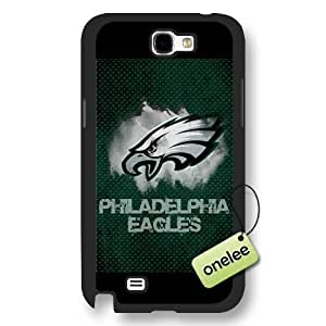 Personalize NFL Philadelphia Eagles Team Logo Frosted BlackDiy For SamSung Note 3 Case Cover Black