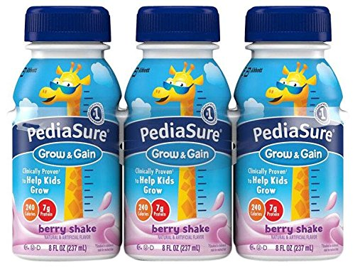 Pediasure Regular Nutrition Drink Bottles - Berry - 8 oz - 24 pk