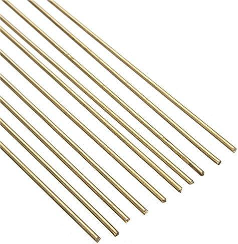 Wchaoen 10Pcs 1.6mm x 250mm HS221 Varillas de soldadura de lat/ón Varillas de soldadura de lat/ón Accesorios para herramientas