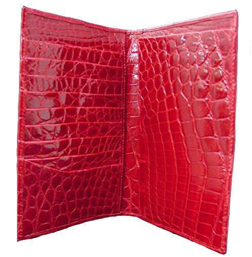 """""""Pocket Secretary"""" Red Alligator Wallet"""