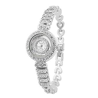 Reloj Lujo Diamante Pulsera Mujer Acero Inoxidable Banda ...