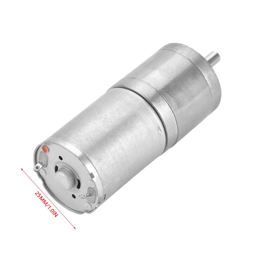 12V 1000RPM 1Pcs 25mm DC 12V 25GA-370 Low Speed Metal Gear Motor for Electronic Lock Electric Toy Car Children Motorcycle