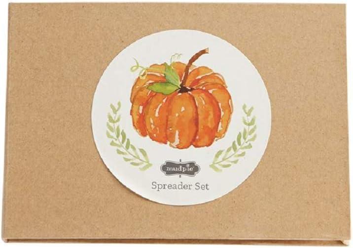 Mud Pie Fall Pumpkin Spreader Boxed Set