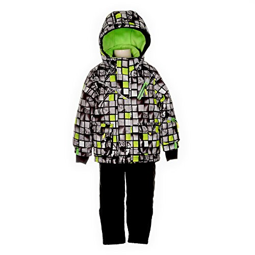 Deux par Deux Boys' 2-Piece Snowsuit Snowcubes, Sizes 5-1...